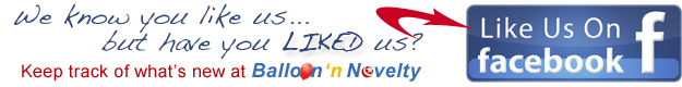 follow Balloon and Novelty store on facebook